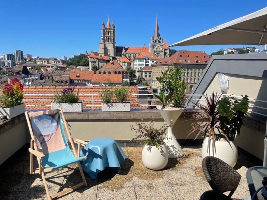 Aménagement toit terrasse, roof top – Lausanne