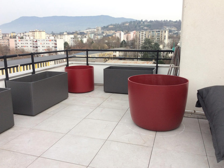 Installation, plantation pots, jardinières terrasse – Genève