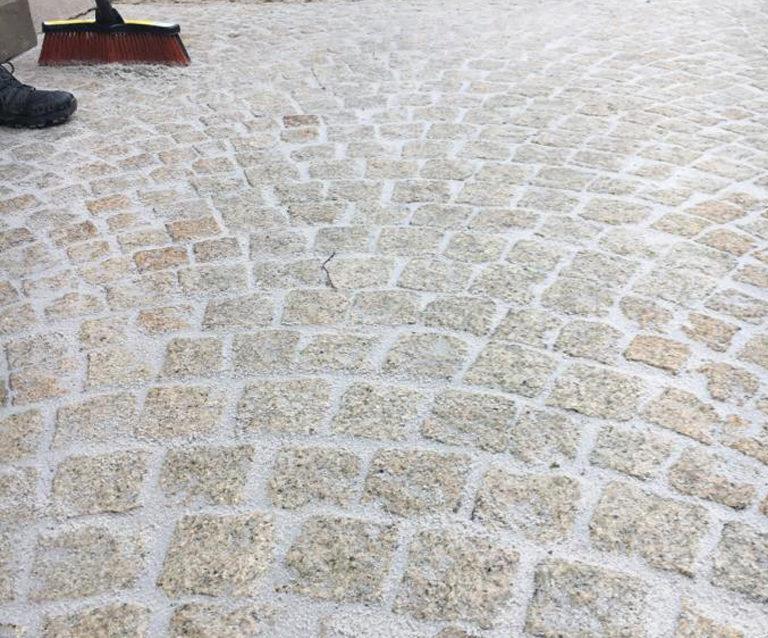Réfection allée dallage pavés – Bernex, Genève